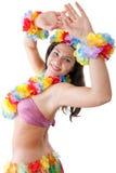 Hula girl. Portrait of a hawaiian hula girl stock photography