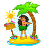 Hula girl Royalty Free Stock Photography