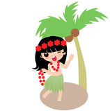 Hula Girl Royalty Free Stock Image