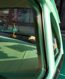 Hula Girl in a Classic Car, USA Royalty Free Stock Image