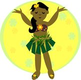Hula Girl Dancing Stock Image