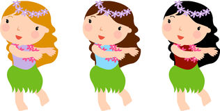 Hula girls Stock Photos