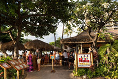 Hula Grill. Maui, HI: October 22, 2016: Hula Grill on the island of Maui in the state of Hawaii. Hula Grill is owned by TS Restaurants, which owns/manages Royalty Free Stock Photography