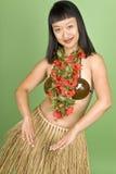 hula hawaiian танцора стоковая фотография