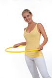 Hula Hoop. Young woman with hula hoop Royalty Free Stock Images