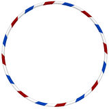 Hula hoop with blue and red striped royalty free illustration