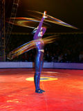 Hula-hoop dancer Royalty Free Stock Photography