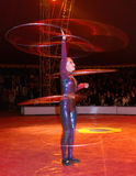 Hula-hoop dancer. In action. Circo di Avrasya. In denizli performance stock image