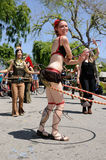 Hula hoop dancer Stock Image