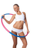 Hula Hoop Exercises Royalty Free Stock Image