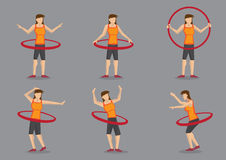 Hula Hoop Fitness Workout Vector Character Illustration Royalty Free Stock Photo