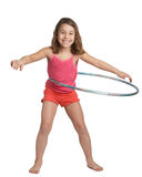 Hula hoop girl Royalty Free Stock Image