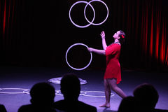 Hula hoop juggler Alexandra Soboleva Royalty Free Stock Photos