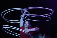 Hula hoop juggler Alexandra Soboleva Royalty Free Stock Image