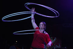 Hula hoop juggler Alexandra Soboleva Royalty Free Stock Photography