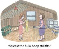 Hula hoop. At least the hula-hoop still fits Stock Images