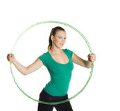 Hula hooping Royalty Free Stock Image