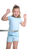 Hula hooping kid Stock Images