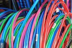 Hula Hoops. Bundle of multicolor Hula Hoops stock photography