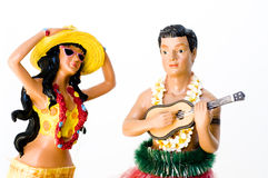 Hula Man And Woman Royalty Free Stock Image