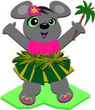Hula Maus mit einer Palme Stockfoto