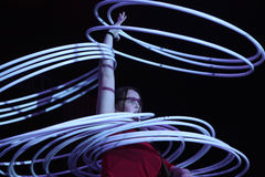 Hula obręcza juggler Alexandra Soboleva Fotografia Royalty Free