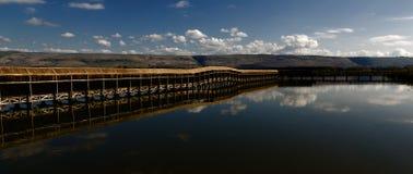 Hula park narodowy Izrael Zdjęcia Stock