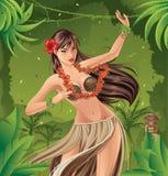 Hula-Tänzer lizenzfreie abbildung