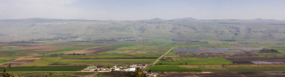 Hula Valley. A view to Hula valley in the north of Israel Stock Photo