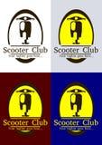 Hulajnoga loga Świetlicowy szablon Zdjęcia Royalty Free