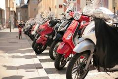 Hulajnoga parking Zdjęcie Royalty Free