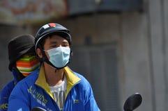 Hulajnoga ruch drogowy w Wietnam Zdjęcie Stock