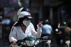 Hulajnoga ruch drogowy w Wietnam Obraz Royalty Free