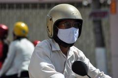 Hulajnoga ruch drogowy w Wietnam Fotografia Royalty Free
