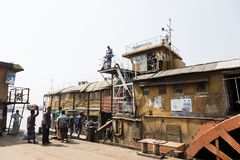 Hularhat,孟加拉国, 2017年2月27日:火箭队-一艘古老明轮船 图库摄影