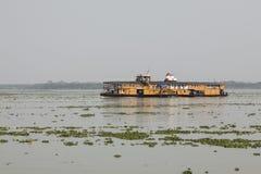Hularhat,孟加拉国, 2017年2月27日:火箭队-一艘古老明轮船 免版税库存图片