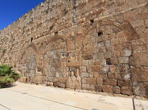 Hulda给耶路撒冷考古学公园装门 库存图片