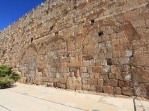 Hulda Gates Jerusalem Archaeological Park. Jerusalem Archaeological Park, just next to the Temple Mount in Jerusalem, Israel. The Triple Gate of the Hulda gates stock image