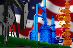 HULDE AAN AMERIKAANSE OLIEindustrie Royalty-vrije Stock Afbeelding
