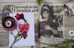 Hulde aan Amy Winehouse Stock Foto's
