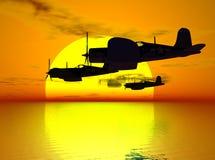 Hulde aan een Gevallen Vlieger Stock Afbeelding