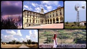 Hulde aan prachtig Toscanië, collage stock videobeelden