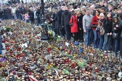 Hulde aan slachtoffers van de vliegtuigneerstorting Royalty-vrije Stock Foto