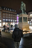 Hulde die na de van de aanvallenparijs van Parijs aanvallen af worden opgemaakt Stock Foto
