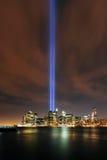Hulde in Lichten, 9/11 Manhattan, 2010 Stock Foto's