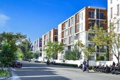 Hulhule-Häuser und und Straßen Lizenzfreie Stockbilder