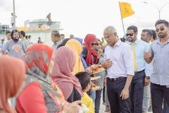 Hulhumale Biulding's - το μεγαλύτερο τεχνητό νησί των Μαλδίβες, στοκ εικόνες