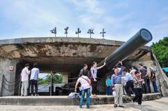 The Huli Mountain Fortress at Xiamen stock photo
