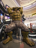 Hulk in The Avengers: Age of Ultron. 1:4 scale Hulk Figure in TOY SOUL 2015 in Hong Kong Stock Image