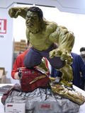 Hulk in The Avengers: Age of Ultron. 1:4 scale Hulk Figure in TOY SOUL 2015 in Hong Kong Royalty Free Stock Images